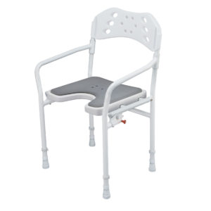 Silla ducha plegable y regulable en altura-0
