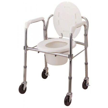 Silla ducha y wc con ruedas