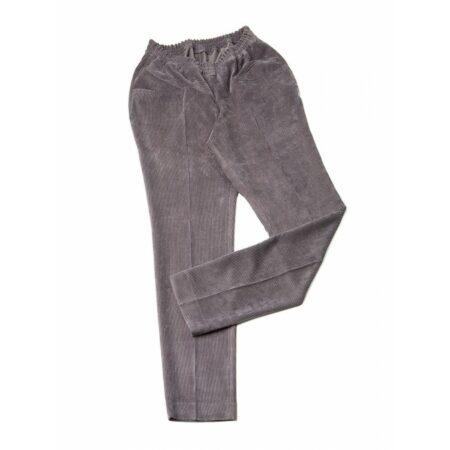 Pantalón adaptado de pana gris para señora 2