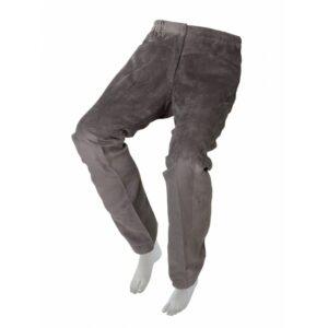 Pantalón adaptado de pana gris para señora