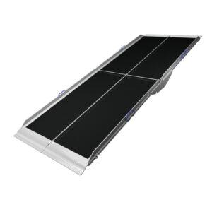 Rampa ligera portatil dos piezas plegable por la mitad-0