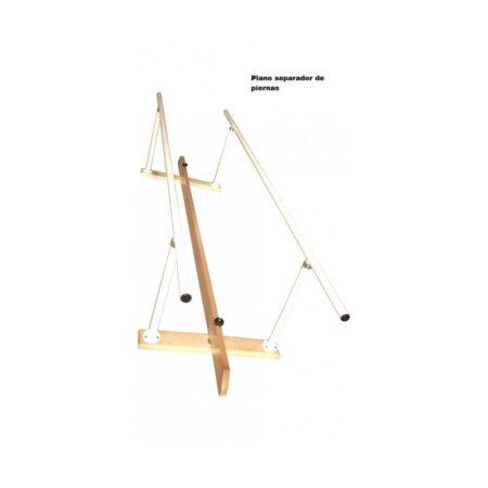 juego de paralelas de acero con base de madera plegables y regulables 5