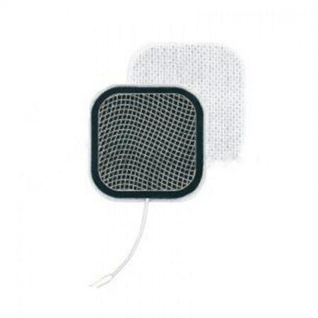 Electrodos con pelicula de carbón cuadrados