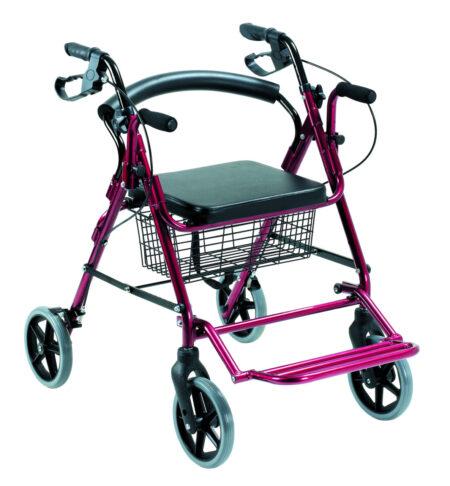 Andador silla Rollator 2 en 1 con reposabrazos-0