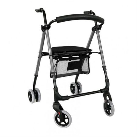 andador rollator premium push cromo a500