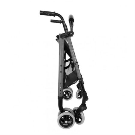andador rollator premium push cromo a500 plegado
