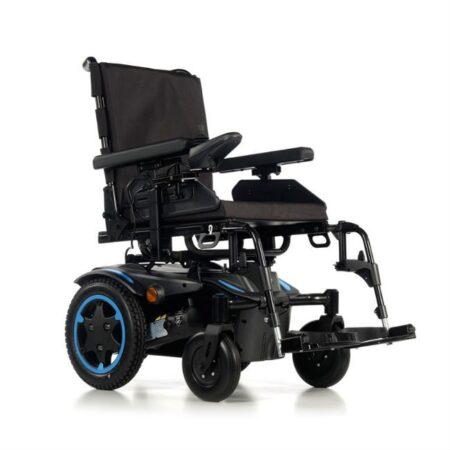 silla de ruedas electrica compacta quickie q100r azul