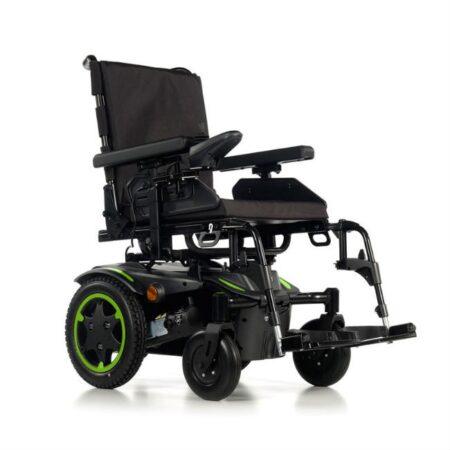 silla de ruedas electrica compacta quickie q100r verde