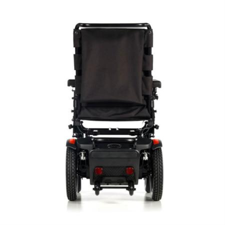 silla de ruedas electrica compacta quickie q100r vista trasera