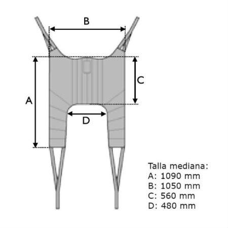grua de traslado birdie evo compact 150kg con arnes dimensiones arnes incluido