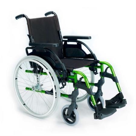 Silla de ruedas de aluminio Breezy Style verde 450×450 1
