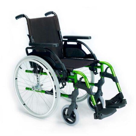 Silla de ruedas de aluminio Breezy Style verde