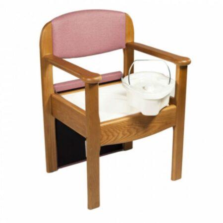 Sillon de madera con wc incorporado cubeta extraible
