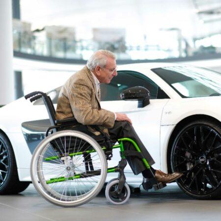 silla de ruedas de aluminio autopropulsable breezy style ligera 1