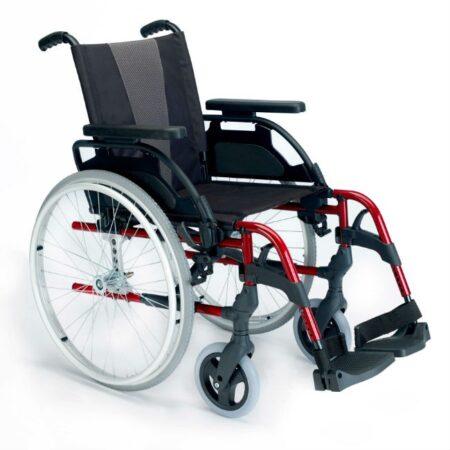 silla de ruedas de aluminio autopropulsable breezy style rojo 1