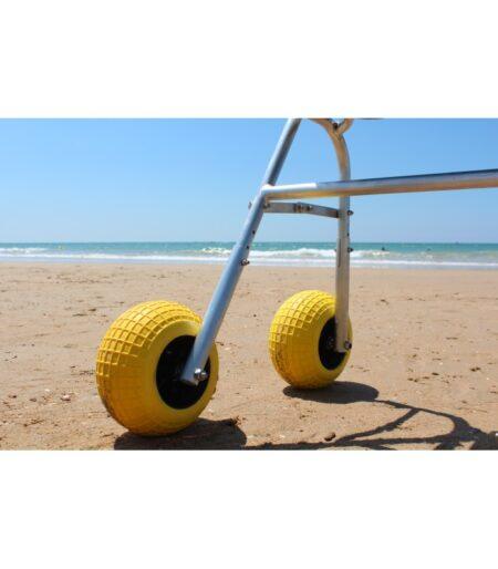 Andador para la playa rueda