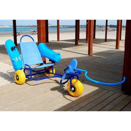Silla anfibia de playa Oceanic desplegada