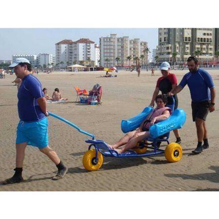 Silla anfibia de playa Oceanic uso 2