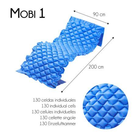 medidas colchón azul