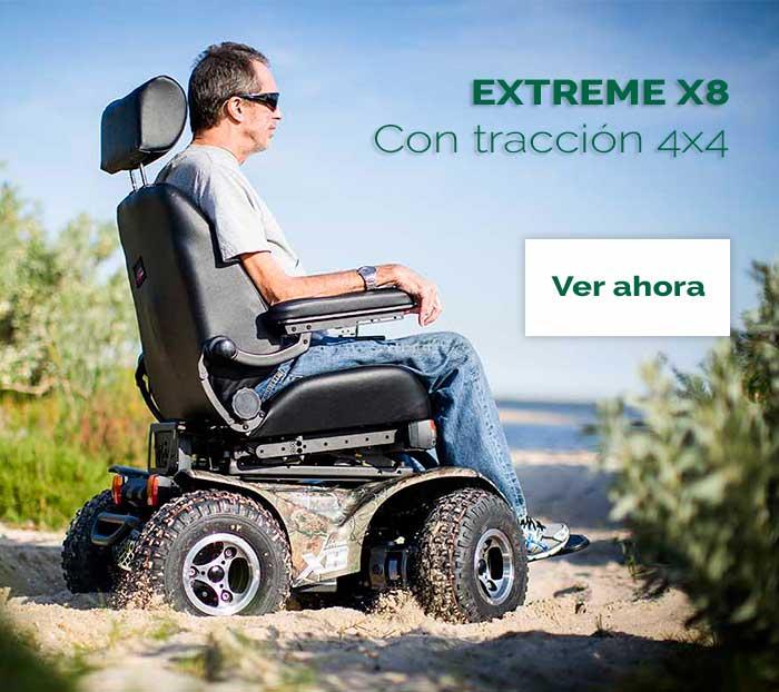 silla de ruedas tracción integral 4x4