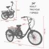 Triciclo terapéutico E Bike eléctrico. medidas 1