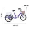 Triciclo terapéutico E Bike eléctrico. medidas 2