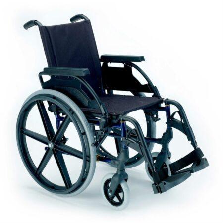 silla de ruedas de acero autopropulsable breezy premiun azul marino
