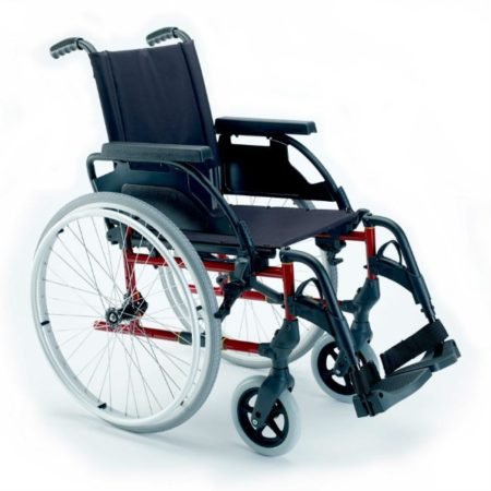 silla de ruedas de acero autopropulsable breezy premiun configurable