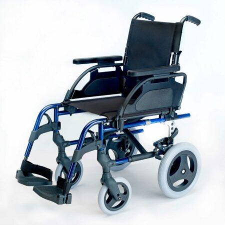silla de ruedas de aluminio no autopropulsable breezy style azul marino
