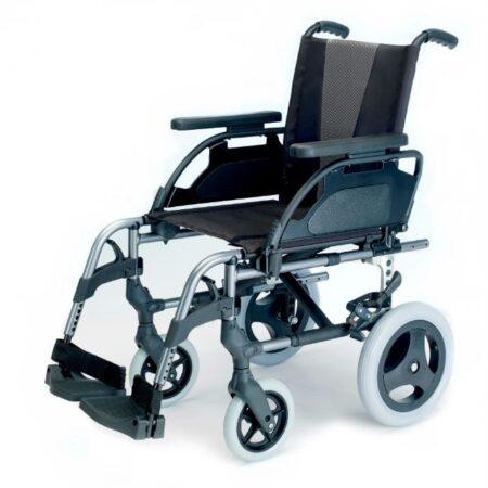silla de ruedas de aluminio no autopropulsable breezy style gris selenio