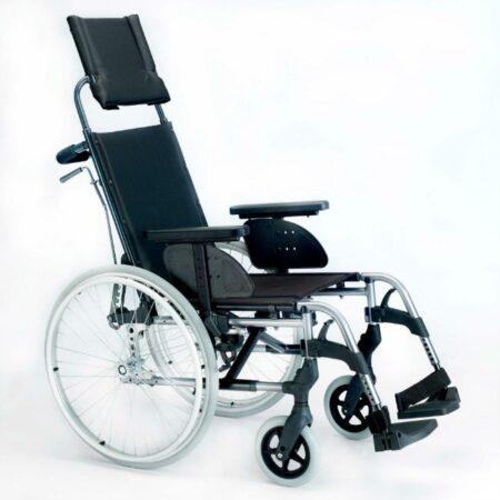 silla de ruedas de aluminio respaldo reclinable breezy style