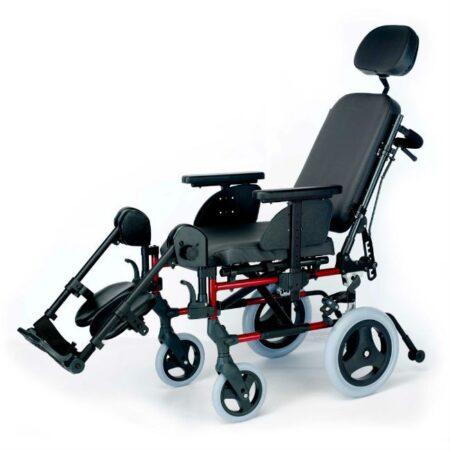 silla de ruedas de aluminio respaldo reclinable breezy style no autopropulsable