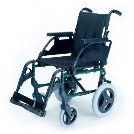 silla de ruedas de acero no autopropulsable breezy premiun
