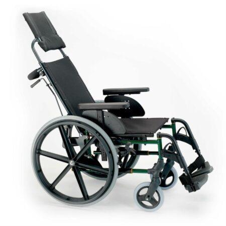 silla de ruedas de acero reclinable autopropulsable breezy premiun