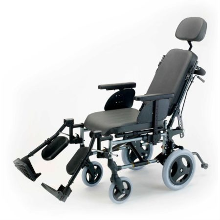silla de ruedas de acero reclinable no autopropulsable breezy premiun
