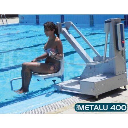 elevador de piscina bateria portatil metalu 400
