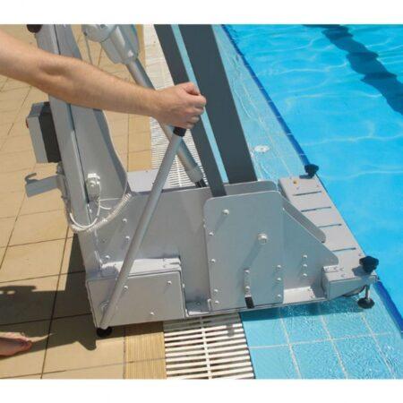 elevador de piscina de bateria portatil metalu 400 seguridad