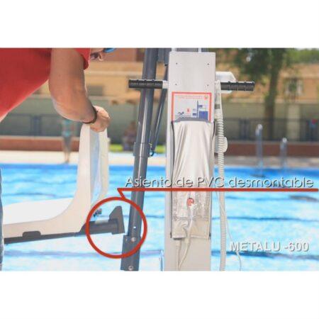 elevador de piscina metalu 600 asiento extraible