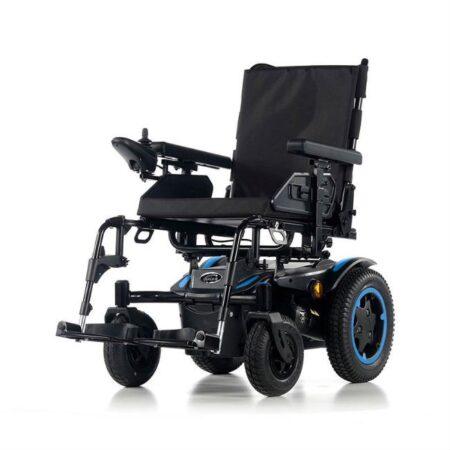 silla de ruedas electrica compacta quickie q200r azul