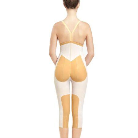 faja voe post liposuccion por debajo de rodillas y abdomen con refuerzos y cierre de corchetes refuerzos interiores