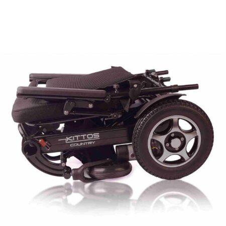 silla de ruedas electrica e kittos plegable de aluminio compacta