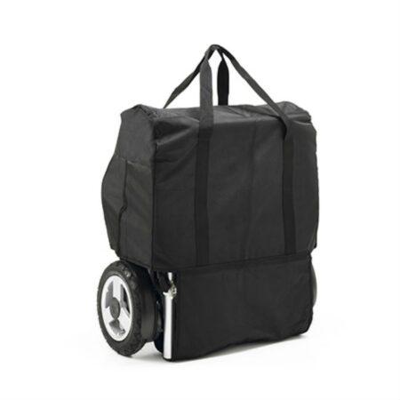silla de ruedas electrica e kittos plegable de aluminio con bolsa de transporte