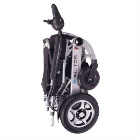 silla de ruedas electrica e kittos plegable de aluminio plegada vertical