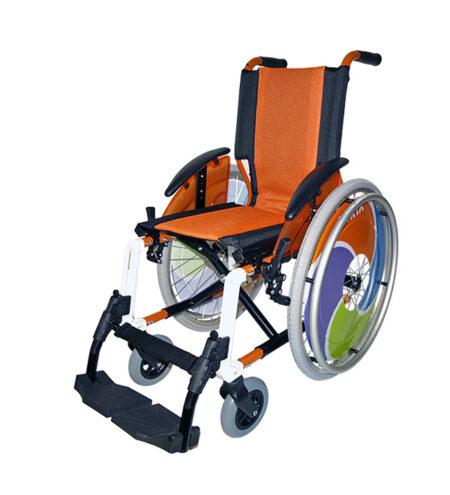 Silla de ruedas infantil Line Naranja