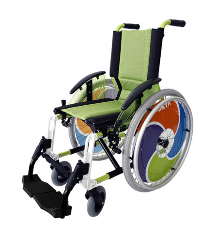 Silla de ruedas infantil Line Pistacho