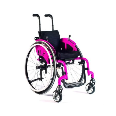 silla de ruedas infantil de aluminio autopropulsable de estructura rigida quickie simba 3