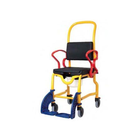 silla de ruedas para ducha y wc infantil robotec