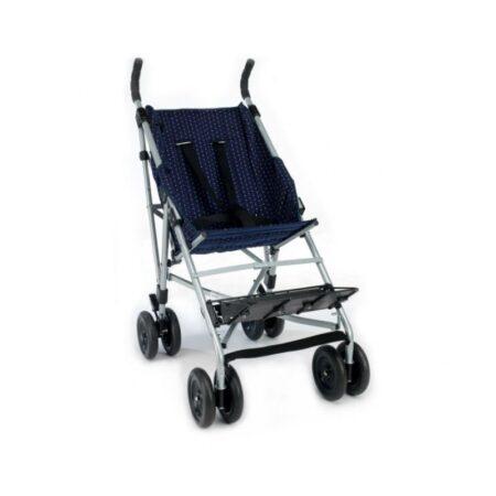 silla de ruedas tipo paraguas con respaldo reclinable