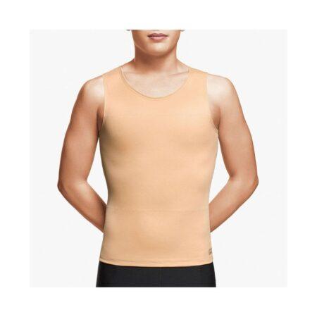 chaleco voe post liposuccion para hombre sin mangas y cierre dorsal