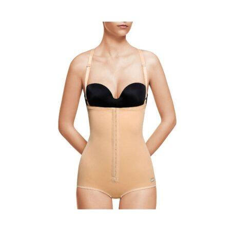 faja voe post liposuccion abdominal con tirantes con refuerzos y cierre de corchetes